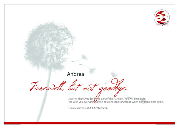 designs for farewell cards